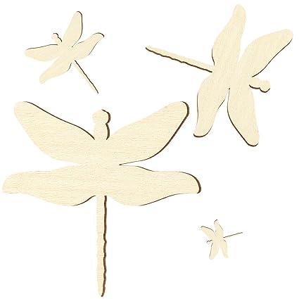 Größenauswahl Libelle Pappel 3mm Sperrholz Zuschnitte
