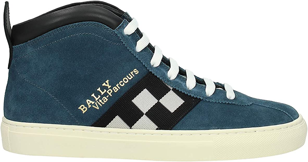 Honestidad disco Hermanos  Bally Sneakers vita - Parcours Men - Suede (VITAPARCOURS6221368) 10 UK  Blue: Amazon.co.uk: Shoes & Bags