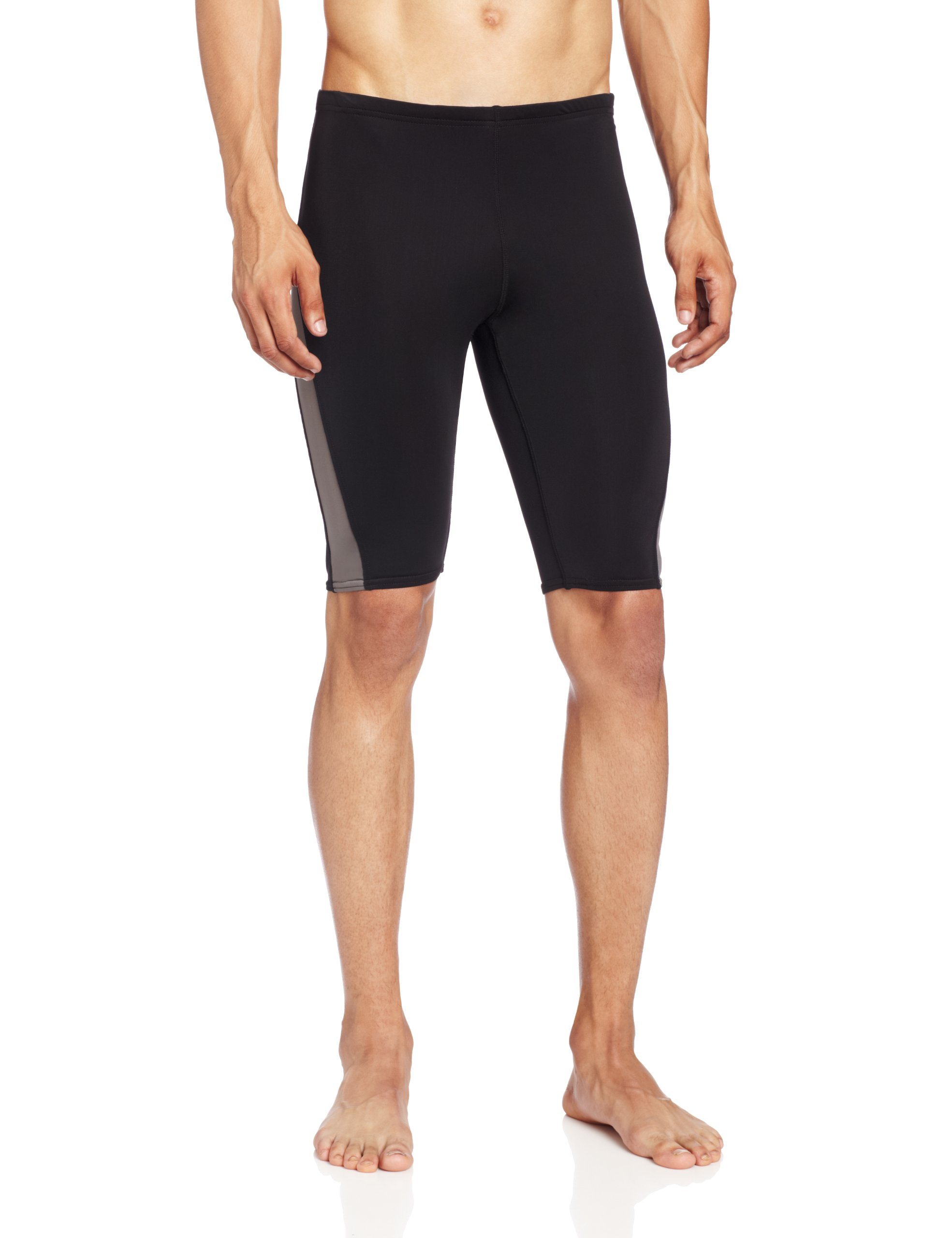 Kanu Surf Men's Competition Jammers Swim Suit, Black/Grey, 34 by Kanu Surf
