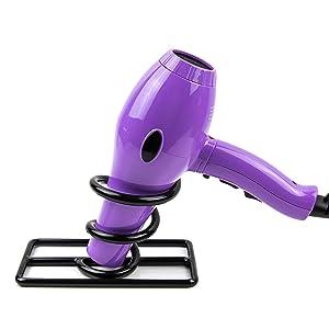Hair Dryer Holder Countertop - Spiral Salon Blow Dryer Holder Stand - Hairdryer Holster - Hairdryer Holder for Bathroom - Hair Dryer Holster - Blowdryer Holder