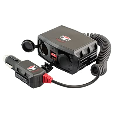 Custom Accessories 23380 12V-24V Socket and Dual USB 2.8A Charger: Automotive