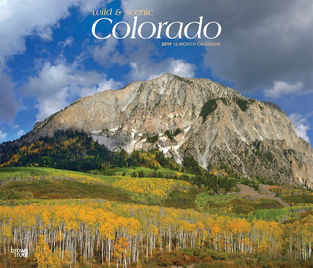 Colorado, Wild & Scenic 2019 12 x 14 Inch Monthly Deluxe Wall Calendar, USA United States of America Rocky Mountain State Nature by HBT