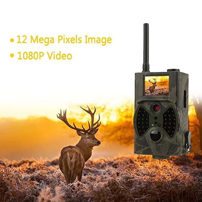 663f9e8659e14 Amazon.com : Docooler Trail Camera GPRS/MMS/SMS Function Digital Infrared  Water Proof Scouting Surveillance Hunting Camera 940NM IR LED HC300M :  Sports & ...