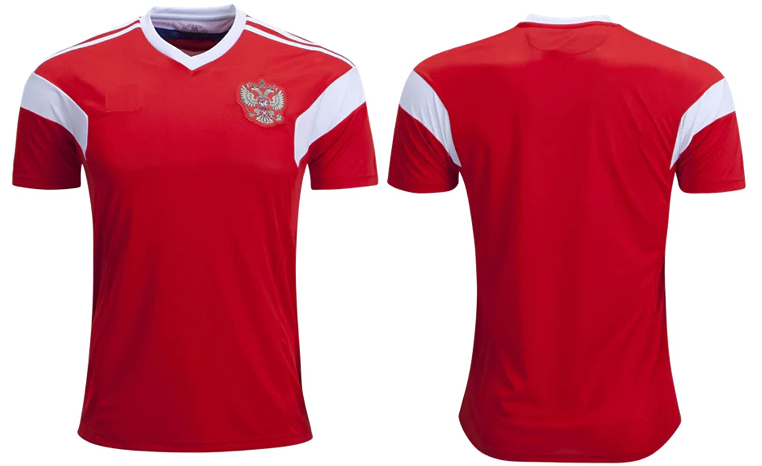 8dc3ad8e Amazon.com : Russia Men's Soccer Jersey Home Short Sleeve Adult Sizes :  Sports & Outdoors