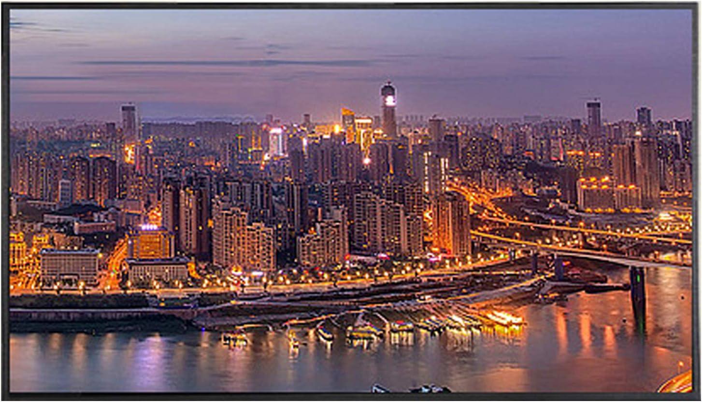 YILANJUN TV 4K Televisión Televisor Smart Monitor Templado a Prueba de Explosiones LCD de Alta Definición de Red WiFi Inteligente de 32/42/50/55/60 Pulgadas, Compatible con Varios Dispositivos