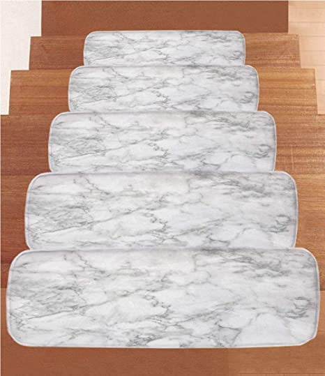 IPrint Non Slip Carpets Stair Treads,Marble,Nature Granite Pattern With  Cloudy Spotted