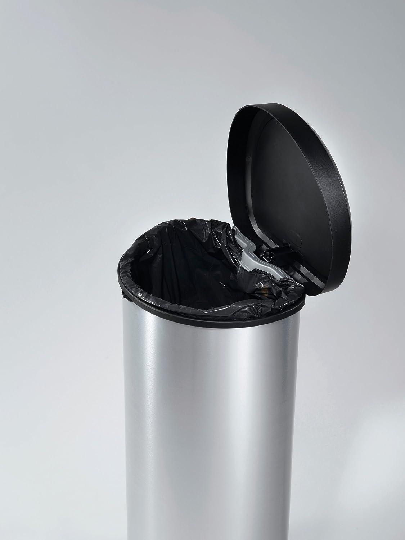 Curver 181125 Cubo de basura con pedal 40L, Metal, 30.9 x 34.9 x ...