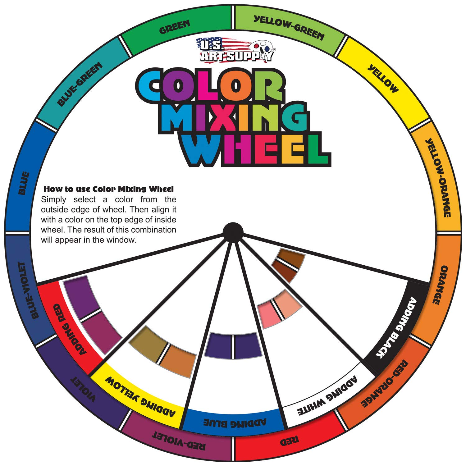 U.S. Cake Supply 8 Bottle Set of 20-gram Liquid Candy Food Color with Color Mixing Wheel by U.S. Cake Supply (Image #3)