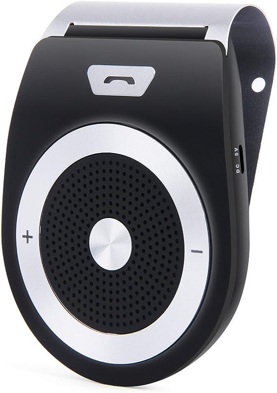 Sun Visor Wireless Bluetooth Receiver Car Kit Speakerphone Hands-free Adapter