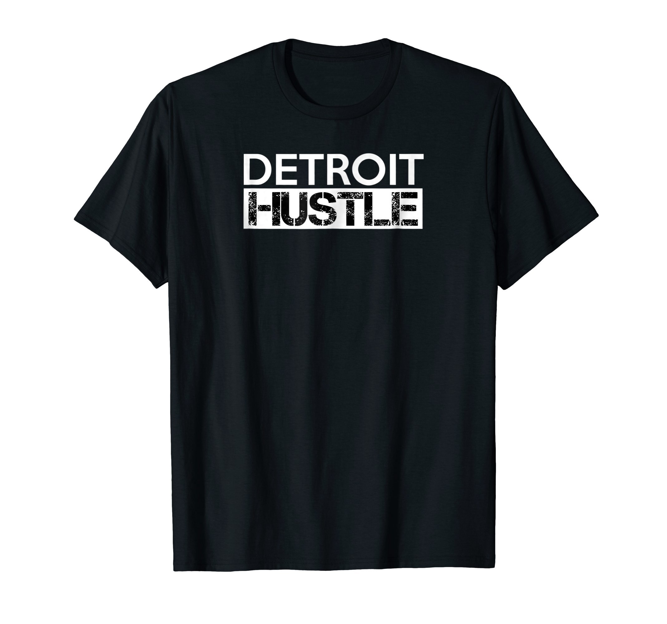 Detroit Hustle Baseball Football Business Motor Gym T Shirt