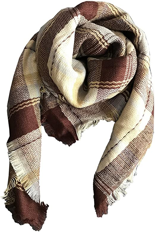 Jastore Kids Girls Boys Stylish Grid Warm Blanket Scarf Gorgeous Wrap Shawl