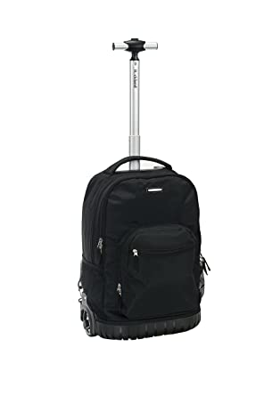 Rockland 19quot Rolling Backpack Black