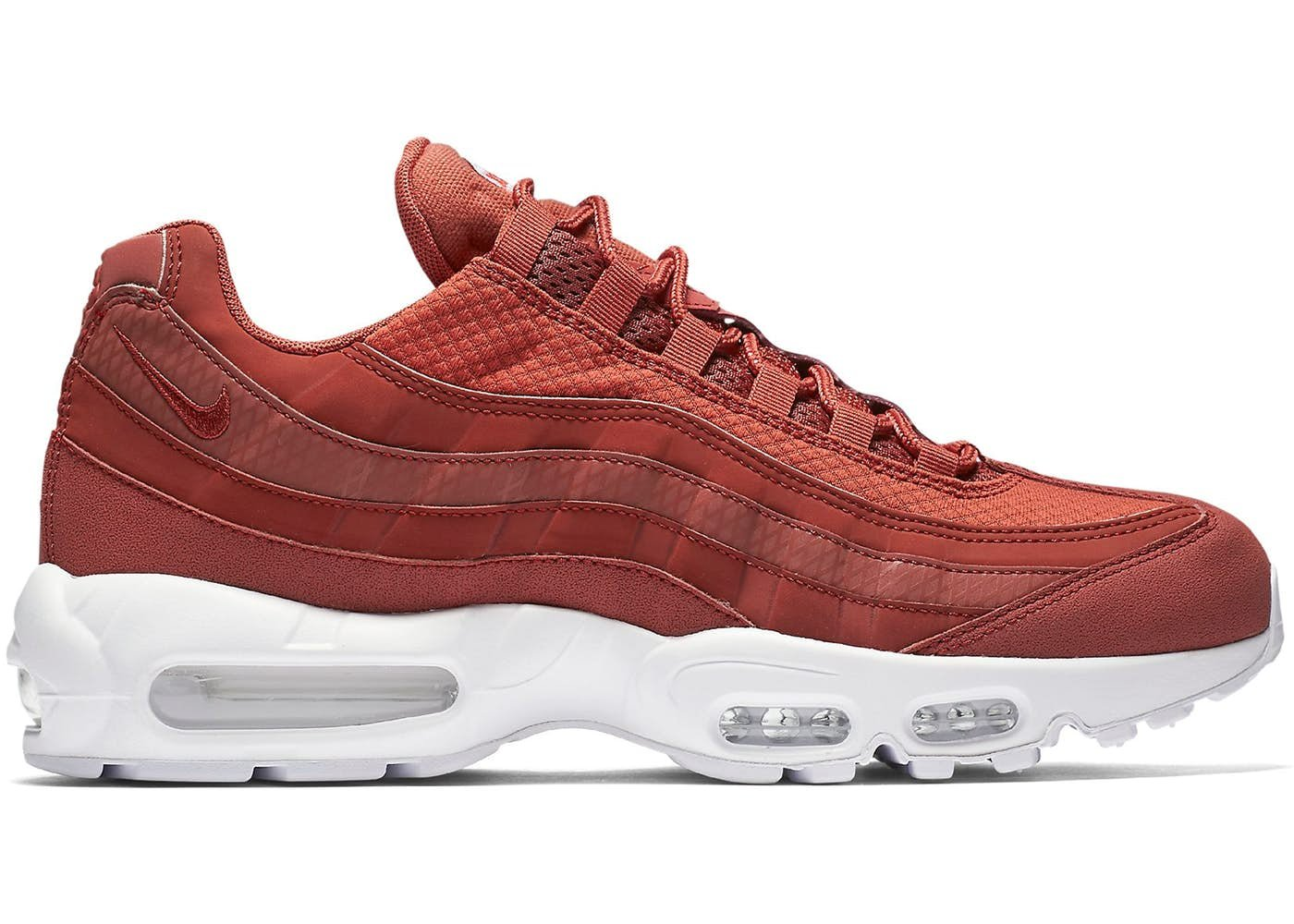 Nike Air Max 95 Premium SE Mens Running Trainers 924478 Sneakers Shoes (UK 9 US 10 EU 44, Dusty Peach White 200)