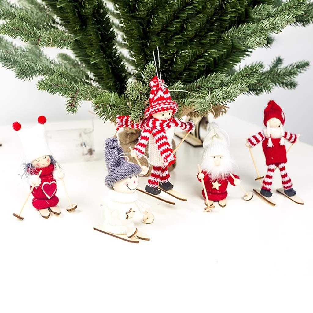 lailongp a 3.54x3.54in Albero di Natale da Appendere Decorazione Natalizia a Forma di Bambola con Pupazzo di Neve