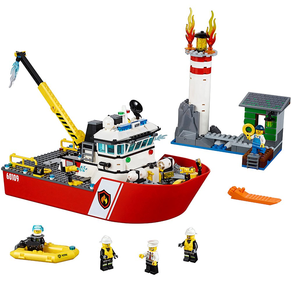 Buy Lego City Fire Boat 60109 Online At Low Prices In India Amazon