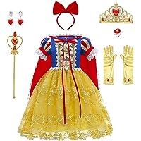 OBEEII Blancanieves Disfraz con Capa Snow White Carnaval