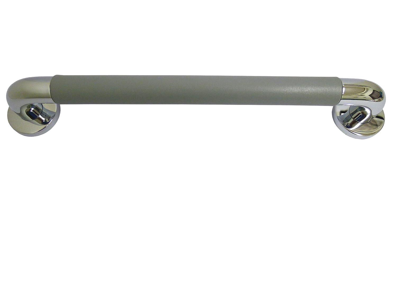 シロクマ パッドニギリバー(60mm) 【H60】450mm クローム/グレー NO-800 (手すり) B009VD7F9Q  クローム/グレー 【H60】450mm