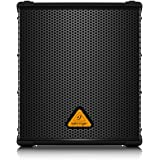 """BEHRINGER B1200D-PRO High-Performance Active 500-Watt 12"""" Pa Subwoofer with Built-in Stereo Crossover Black"""