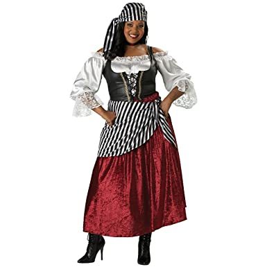InCharacter Costumes Womenu0027s Plus-Size Pirateu0027s Wench Adult Plus Size Costume Black/Burgundy  sc 1 st  Amazon.com & Amazon.com: InCharacter Costumes Womenu0027s Plus-Size Pirateu0027s Wench ...
