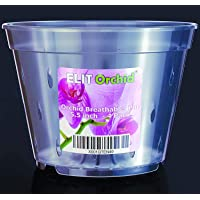ELIT ORCHID Orchid Pots with Holes Cymbidium Phalaenopsis Orchid Pot Indoor Clear Plastic Vanda Plant Pots Set (5.5 inch…