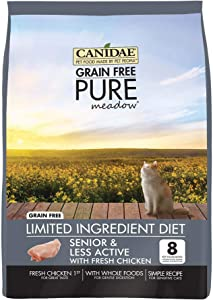 Canidae Grain Free Pure Meadow Senior Cat Dry Formula With Fresh Chicken, 2.5 Lbs