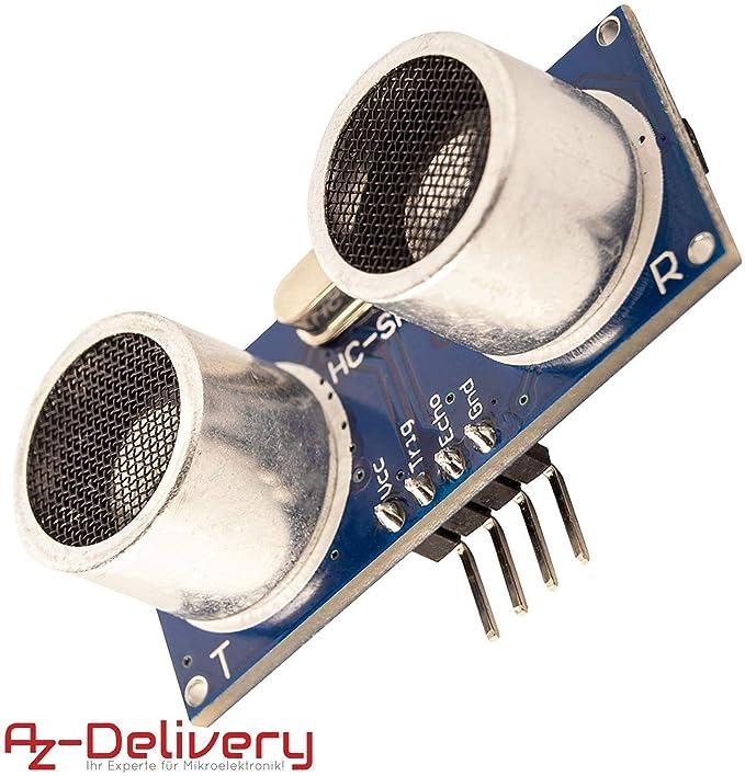 AZDelivery HC-SR04 Sensor de Distancia Ultrasónico para Raspberry Pi y Arduino con eBook incluido