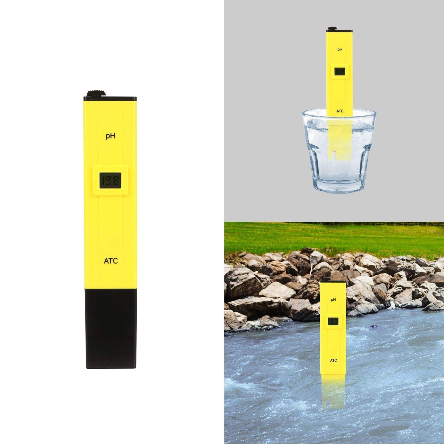 Aromdeeshopping New Digital PH Meter Water Hydroponics Pool Test Pocket Pen Tester Aquarium Pond