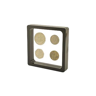 3D VISIO MARCOS PARA OBJETOS. Para monedas, medallas, modelos, piedras, etc. Negro M: 11cm X 11cm.: Hogar