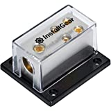 InstallGear 0/2/4 AWG Gauge Power Distribution Block 1/0 Gauge In to (4) 4/8 Gauge Out