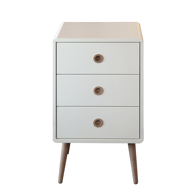 Steens Soft Line 3 Drawer Bedside, Oak, White 3600030050000F