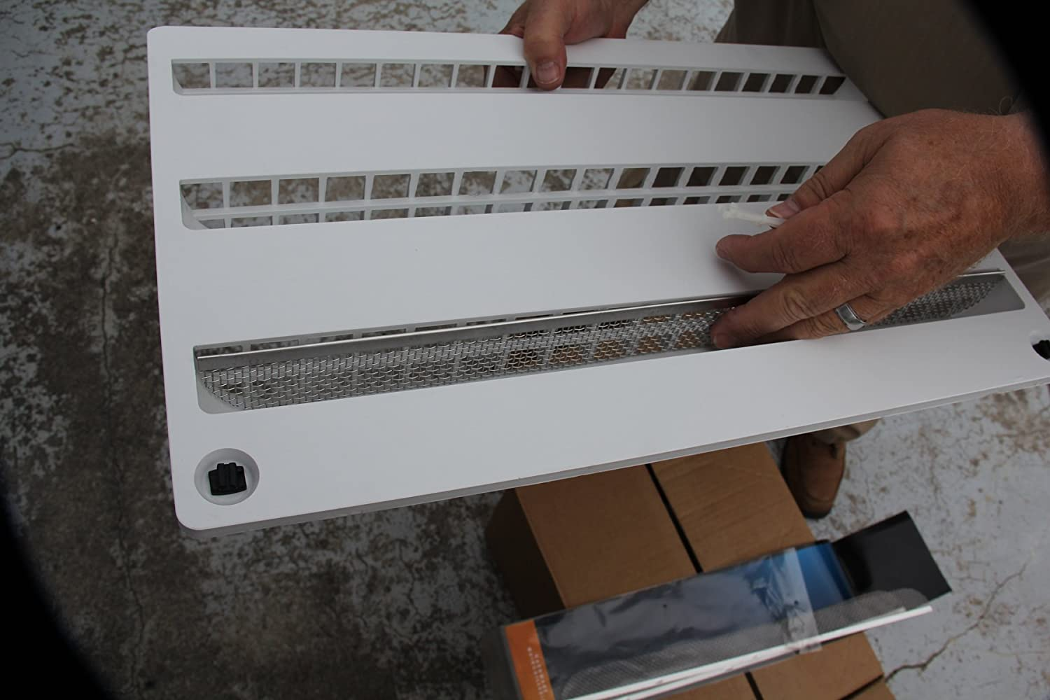 Camco Flying Insect Screen For Dometic Refrigerator Rm2652 Wiring Schematic Vents Protects From Nests 20 X 1 2 Stainless Steel Mesh