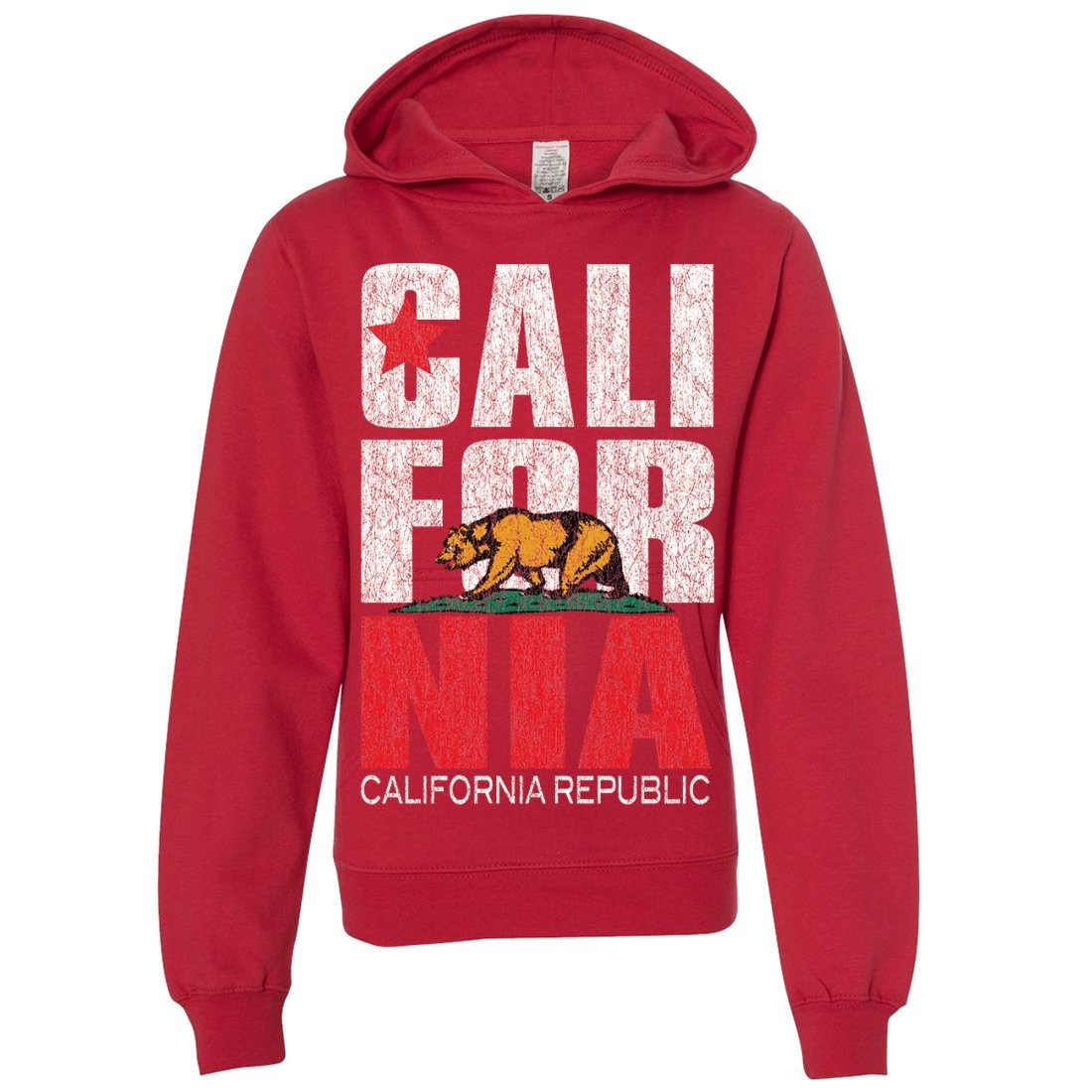 Dolphin Shirt Co California Republic Vintage Retro Youth Sweatshirt Hoodie