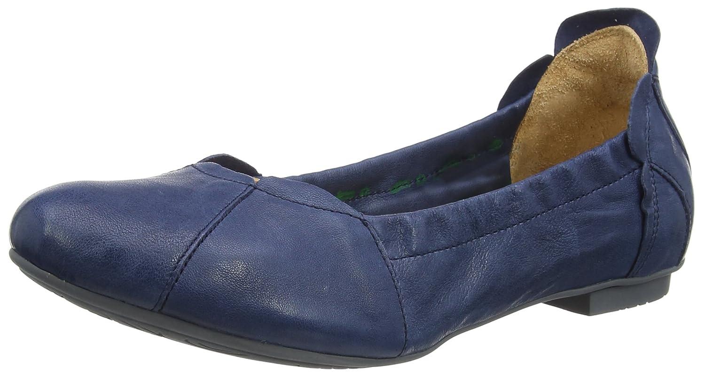 Damen Geschlossene Balla_282161 Geschlossene Damen Ballerinas Blau (Capri 89) f1922e