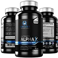 Ultimate AlphaX Male Enhancing Pills- Super Strength Enlargement Booster For Men- Professional Grade All Natural Vegan Supplement- Size, Energy, Mood, Stamina & Endurance Support- Made in USA, 90 Caps