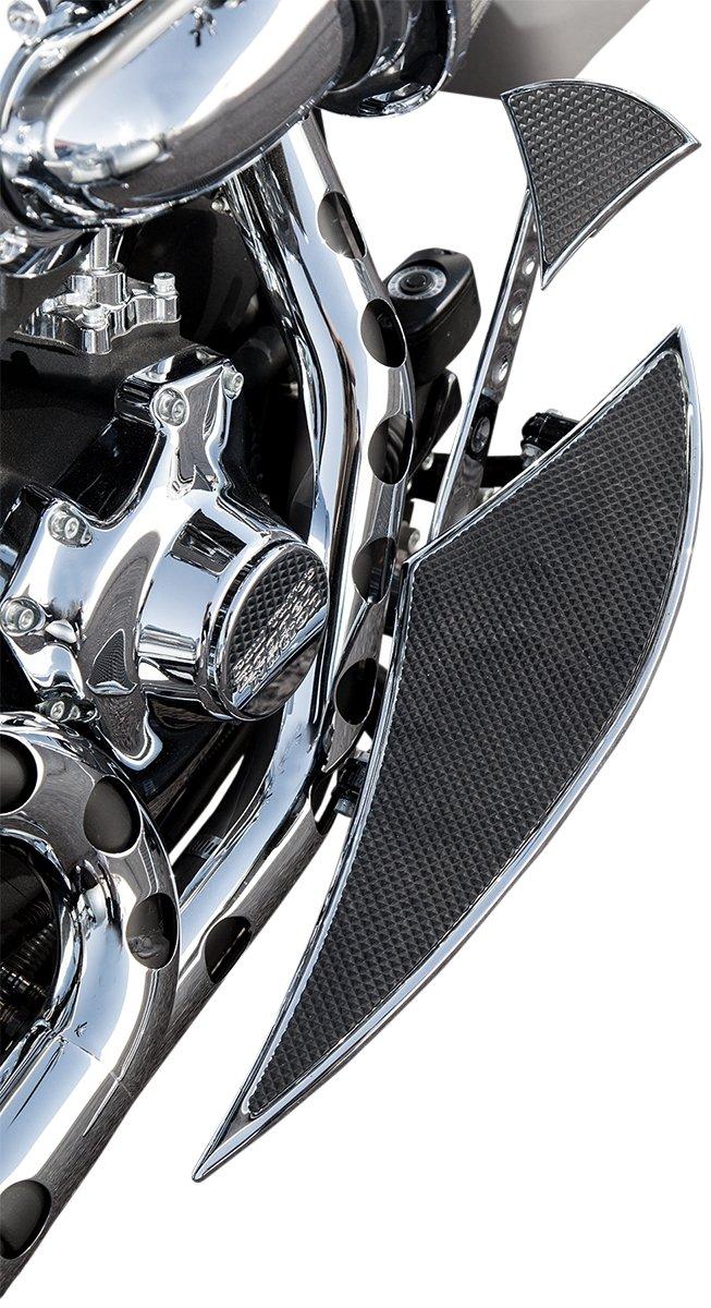 for 1984-2017 Harley-Davidson Touring Models Paul Yaffes Bagger Nation WPF-CL-C Chrome Wedge Passenger Floorboard