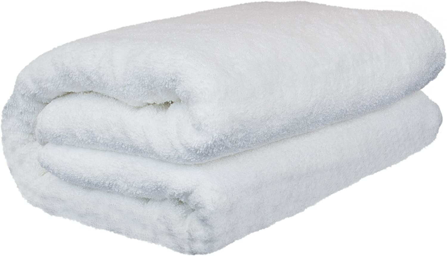 BC BARE COTTON Luxury Hotel & Spa Towel Turkish Cotton Oversized Bath Sheets - White - (40x80 inches, Set of 1): Home & Kitchen