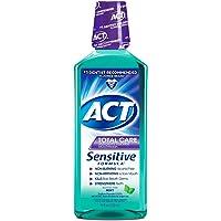 Act Total Care Sensitive Formula Anticavity Fluoride Mouthwash, Mild Mint - 18 Oz (Pack of 2)