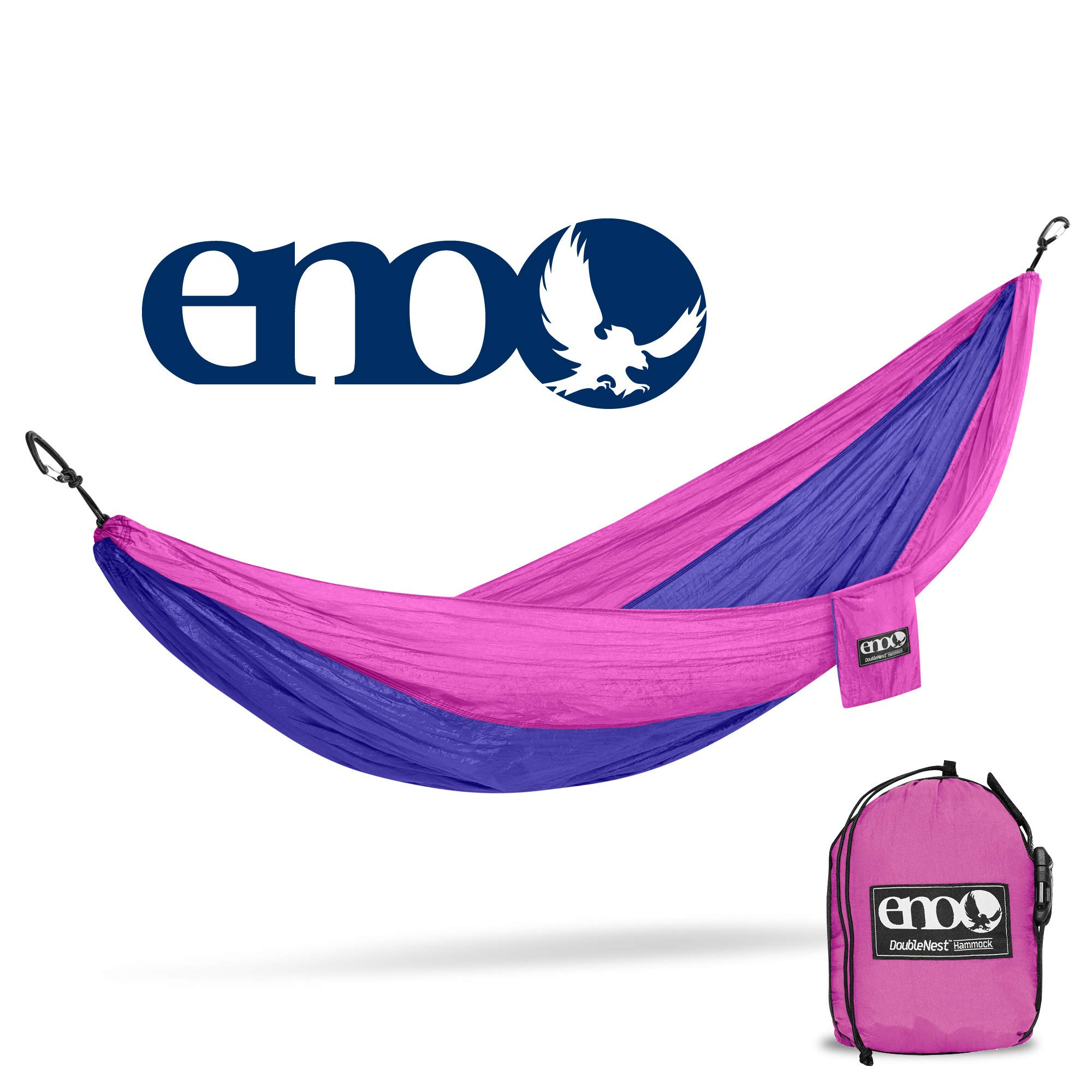 ENO - Eagles Nest Outfitters DoubleNest Hammock, Portable Hammock for Two, Purple/Fuchsia
