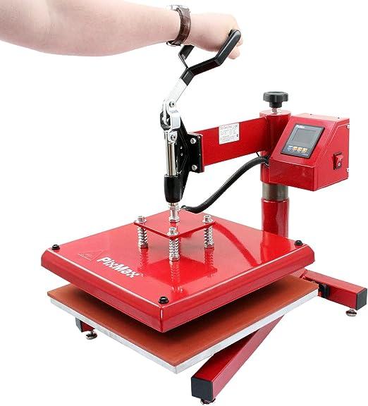 PixMax - Prensa Térmica Swing 38cm para Camisetas, Plotter de Corte de Vinilo, Impresora & Paquete Wedding: Amazon.es: Electrónica