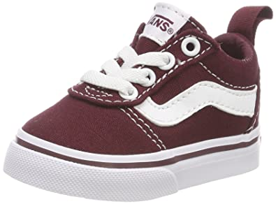 vans damen ward canvas sneaker rot