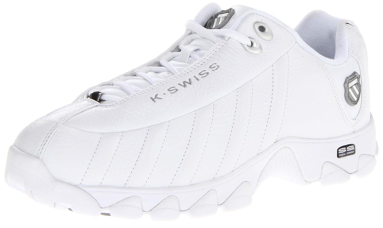 K-Swiss Men's ST329 CMF Training Shoe B00018C92I 8 D(M) US|White/Silver/Black