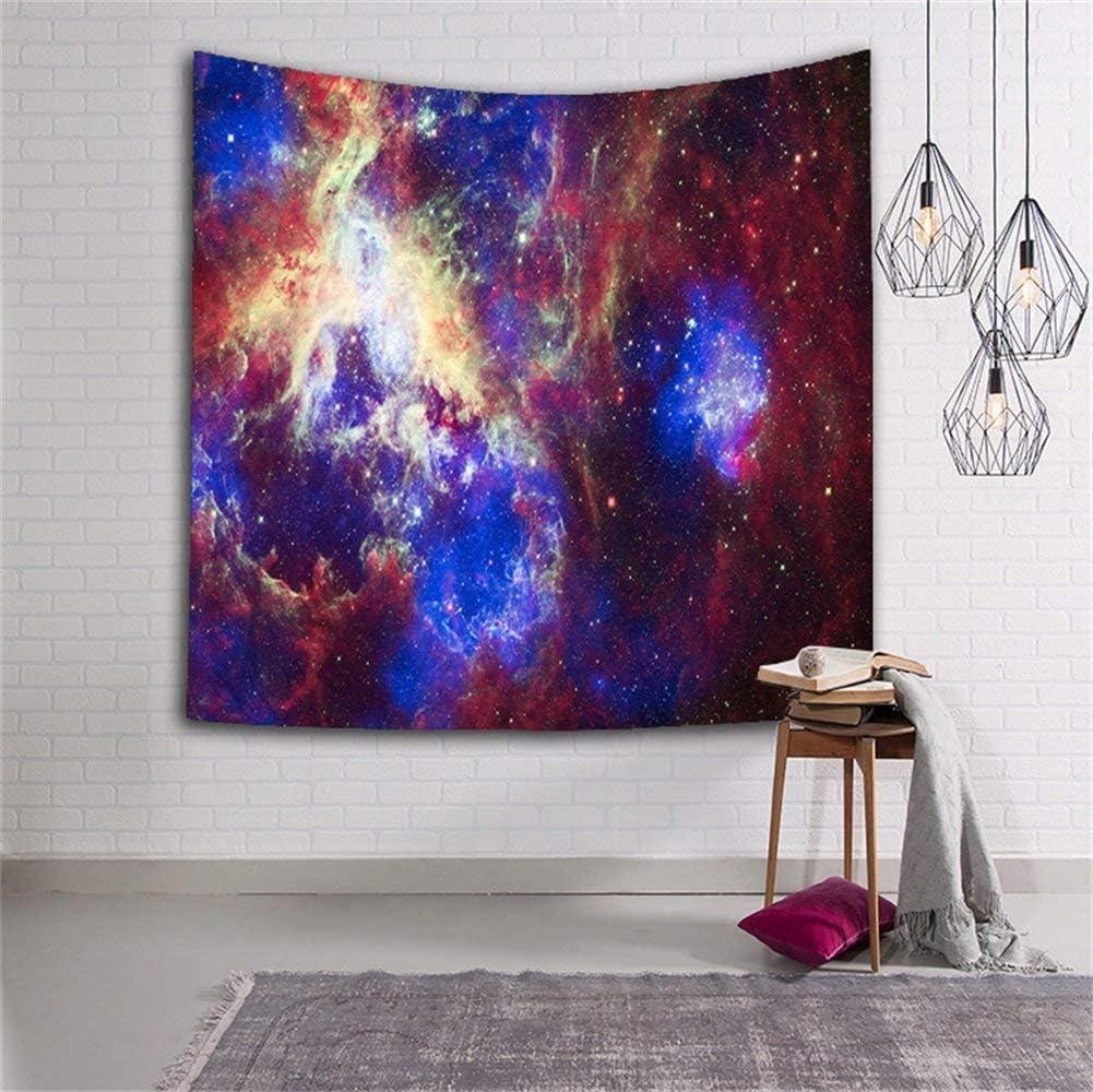 QEES Tapisserie Murale Image Galaxie D/écoration de Chambre Salon Drap de Plage-15-S