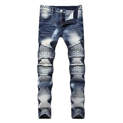 HUPOERT Jeans Slim fit de los Hombres - Denim elástico 98 ...