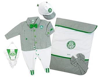 c90a86d46802b3 Rêve D'or Sport - Kit Maternidade Macacão Camisa Palmeiras Menino, 0 ...