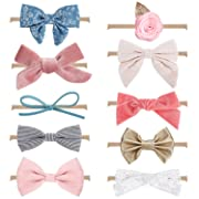 MiiYoung Baby Girl Headbands and Bows, Newborn Infant Toddler Hair Accessories