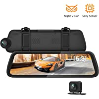 Boscam Sony IMX Sensor Dual Mirror Dash Cam with Night Vision 9.35 Laminated and Anti-Glare Display