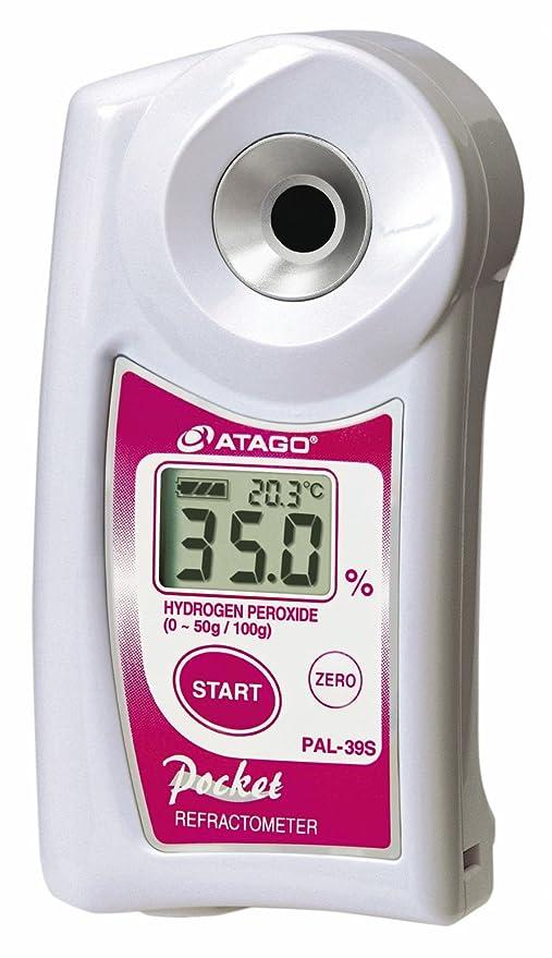"""pal-39s Digital de bolsillo """""""" peróxido de hidrógeno refractómetro"""