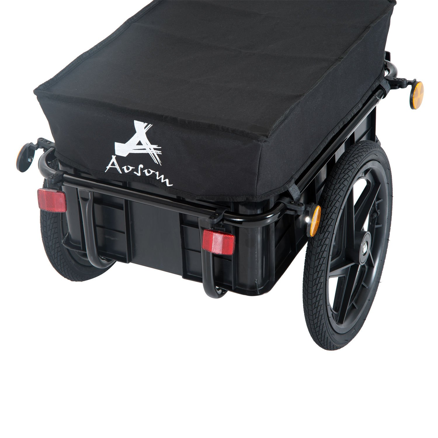 Aosom Enclosed Bicycle Cargo Trailer - Black by Aosom (Image #5)