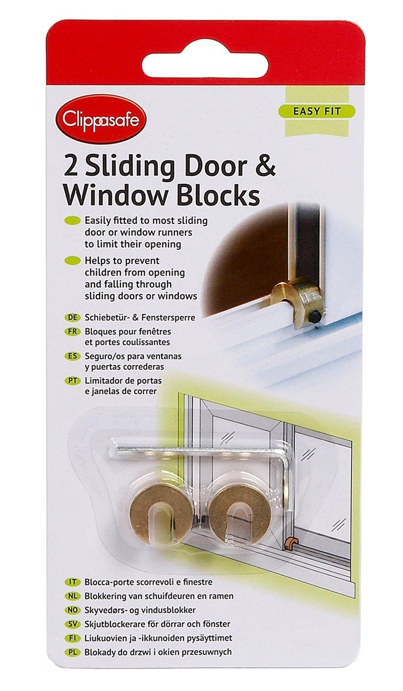 Clippasafe Sliding Window & Door Blocks Two Pack