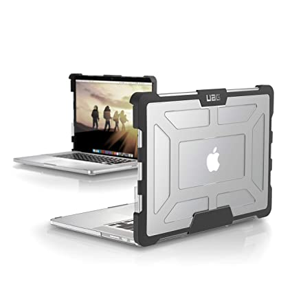 size 40 7cf29 29d38 URBAN ARMOR GEAR [UAG] MacBook Pro 15-inch with Retina Display (3rd Gen)  Feather-Light Rugged [Ice] Military Drop Tested Laptop Case